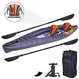 Zray 2 Personas Nassau Kayak Inflable, 13 pies 4 Pulgadas x 37 Pulgadas