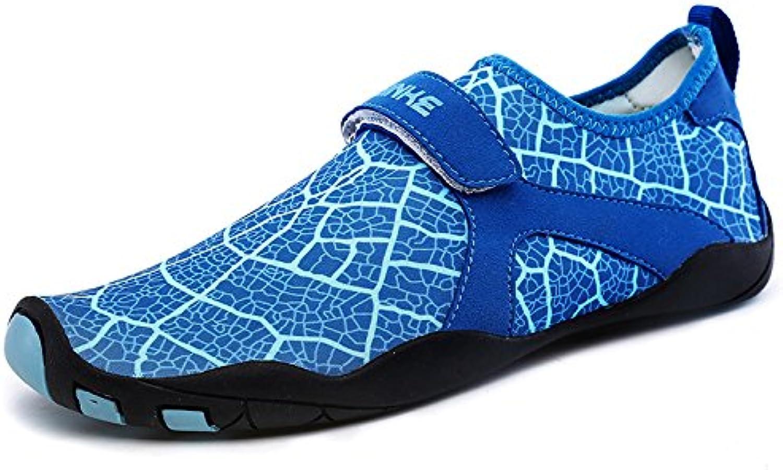 Baoland Water shoes Men Women Barefoot Aqua Socks Quick-Dry Swim shoes for Beach Pool Diving Snorkeling Surf-14 Drainage Holes