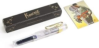 Kaweco Sport Classic Fountain Pen Transparent, Fine Nib with Kaweco Sport Octagonal Clip Gold