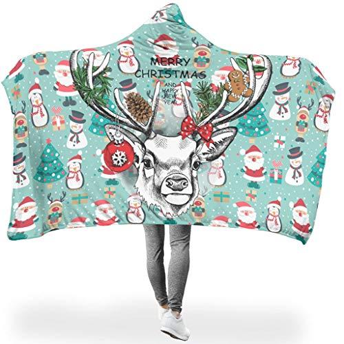 HXshqian Christmas Animal Happy deken super zachte fleece deken