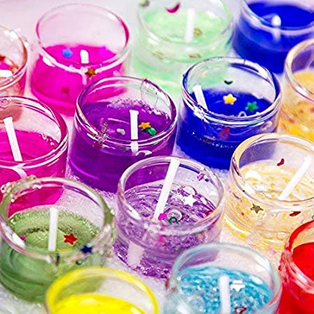 E-Venture Gel Wax Lighting Mini Jelly Candles for Home Decoration, Spa, Surprise, Diwali Decoration, Party & Events- Set of 12