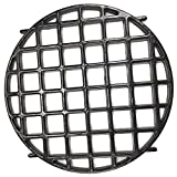 BBQSTAR Glossy Porcelain-Enameled Cast Iron Gourmet BBQ System Sear Grate 12-inch Round Grill Grate Replacement for 22.5-inch Weber Kettle Charcoal Grills, Weber Genesis, Summit, Spirit Gas Grills