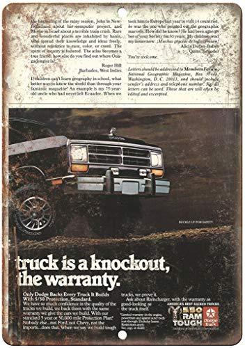 HALEY GAINES Dodge Ram Truck metalen borden Decoratie Retro stijl schild Vintage aluminium poster originele muurkunst voor bar café keuken garages 20×30cm
