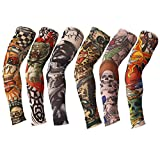 TININNA 6 Stück Unisex Nylon Tattooärmel Tätowierung Ärmel Strümpfe Arm Sleeves Tattoo-Armling B EINWEG Verpackung