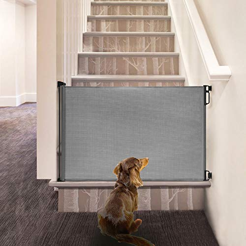 EasyBaby Products Indoor Outdoor Retractable Baby Gate, 33