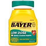 Aspirin Regimen Bayer 81mg Enteric Coated Tablets | Pain Reliever |300 Count