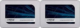【セット買い】Crucial SSD 500GB MX500 内蔵2.5インチ 7mm (9.5mmスペーサー付属) 5年保証 【PlayStation4 動作確認済】 CT500MX500SSD1/JP & SSD 250GB MX500 内...