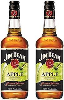 Jim Beam Apfel Likör Bourbon Whiskey 2 x 0.7 l