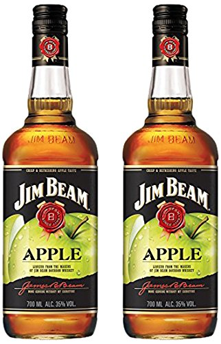 Jim Beam Apfel Likör Bourbon Whiskey (2 x 0.7 l)
