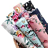 """ZAIONE 8pcs/Set Classic Spring Rose Flower Floral 100% Cotton Poplin Fabric Fat Quarter Sheet 18"""" x 22"""" Printed Cloth Fabric Bundle for Quilting Sewing Patchwork Crafting"""