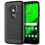 Moto G6 Play Cases,Moto G6 Forge Phone Case,Thin Slim Flexible TPU Soft Skin Silicone Rubber Gel Carbon Fiber Anti-Scratch Shockproof Protective Cases Cover for Motorola G6 Play,Brushed Black