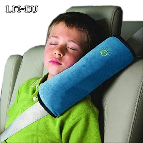 Coussin de ceinture de sécurité pour voiture, coussin de ceinture de sécurité, oreiller de ceinture de sécurité pour enfant, oreiller confortable pour voyager-bleu clair