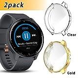 Anzela, Bildschirmschutzfolie, kratzfeste TPU-Schutzhülle für Garmin Vivoactive 3 Music Smartwatch, vollständiger Schutz