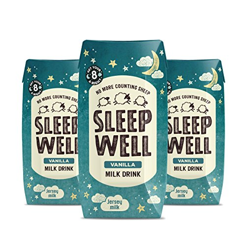Sleep Well Natural Jersey Milk Drink with Valerian - No More Counting Sheep (3 x 200ml cartons) (Vanilla, 3x200ml)
