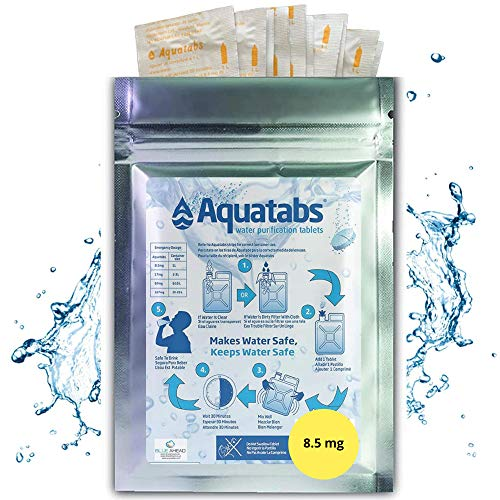 Aquatabs NaDCC 8.5 MG x 100 World's #1 Water Purification Treatment Tablets 1 Tablet = 1-2 litre.(1 Pack, 8.5 MG)