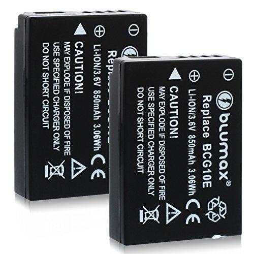 Blumax 2X ersetzt DMW-BCG10 / DMW-BCG10E Akku kompatibel mit diversen Panasonic Kameramodellen 850mAh 3,6V 3,06Whmehr Leistung als Original akku