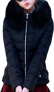 maweisong レディース冬パーカーは、ダウンジャケットフェイクファーフードコートオーバーコート
