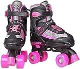 Patines Rodillo de seguridad Skate Quad Patines Ajustable para principiantes Profesional para interiores y exteriores para hombre y mujer Unisex adulto Para mujeres y hombres ( Color : B , Size : XS )