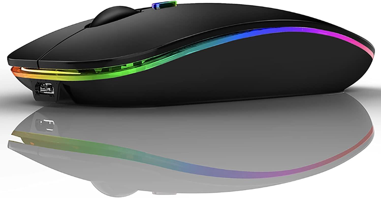 Bluetooth Mouse,LED Bluetooth Mouse for MacBook Pro,MacBook Air,iMac.Mac,iPad,ipad pro,ipad Air,PC,Laptop (Black)