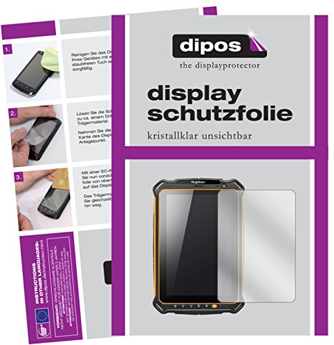 Preisvergleich Produktbild dipos I 2X Schutzfolie klar kompatibel mit RugGear RG910 Folie Displayschutzfolie
