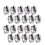 Quickun 20Pcs Stainless Steel Hose Clamp Worm...