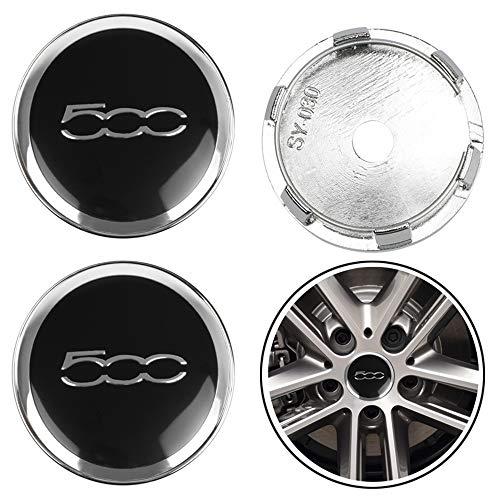 ZGYAQOO 4 Stück Embleme Radnabenkappen Aufkleber Nabendeckel für FIAT Viaggio Abarth Punto 124 125 500 5CC, 60mm Ersatzteil Alufelgen Nabenkappen