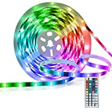LED Strip Lights,16.4ft Led Light Strip,Led Color Changing Lights with Remote,Mood Lighting for Bedroom, Gaming Desk,Gaming Chair,Room Decoration SMD 5050 Strip Lights