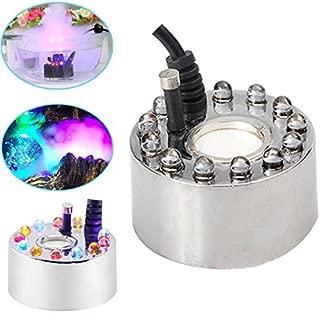 Qjoy 12 Leds Ultrasonic Mist Maker Fogger Water Fountain Pond Fog Machine Atomizer Air Humidifier
