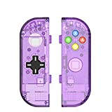 Specially designed DIY replacement housing shell case for Switch Joy-Con handle controller (Left and Right) With middle battery holder plate (no internal electronics part included) Perfect fit and an ideal replacement for your Left Joycon, D-Pad dire...