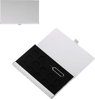 BOXMASTER Nano simケース SIMピン 付属 simカードケース 12枚収納可能 (シルバー)