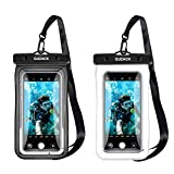 2 Pack Floating Waterproof Phone Pouch Underwater Cell Phone Dry Bag for iPhone 12 11 Pro Max X 8 7 Plus Samsung S20 S10 S9 S8 up to 6.9'' Universal Waterproof Case for Swim Kayak Snorkel Beach Travel