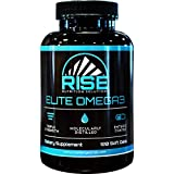 Rise Nutrition Solutions Elite Omega 3 Nutritional Supplement – Omega-3 Fatty Acids Including EPA and DHA – Heart and Immune Support – No Fishy Aftertaste, 120 Softgels