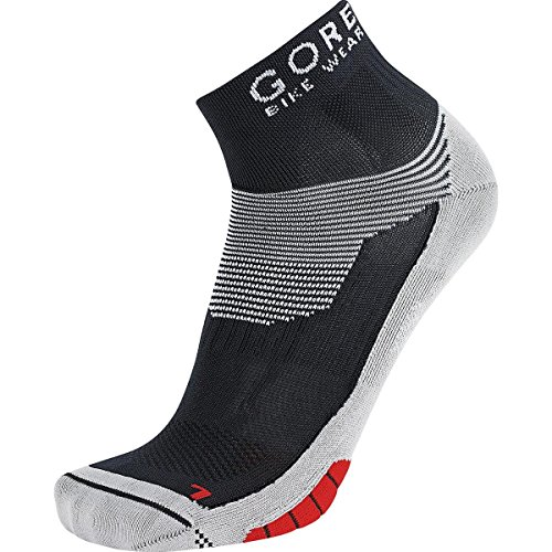 GORE BIKE WEAR Calcetines ciclismo carrera, GORE Selected Fabrics, XENON Socks, Talla 41-43, Negro/Rojo, FEXENM993504