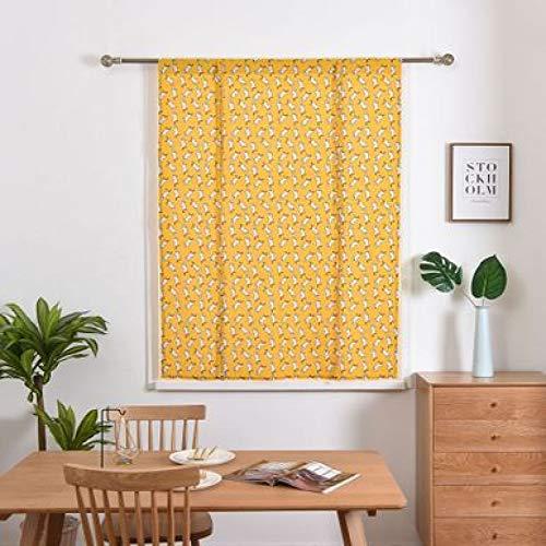Modern And Simple Polyester Curtain, European Cartoon Printing Curtain, Kitchen And Bathroom Bay Window Waterproof