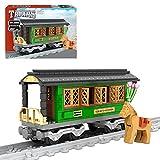 GUDA Techink Juego de construcción para Tren,257 Piezas de Montaje de Bricolaje Bloques de construcción de locomotoras de Trenes ferroviarios,Compatible con Lego