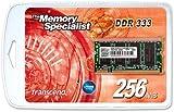 Transcend 256 MB DDR 333 (PC 2700) módulo de - Memoria (0,25 GB, DDR, 333 MHz, 200-pin SO-DIMM)