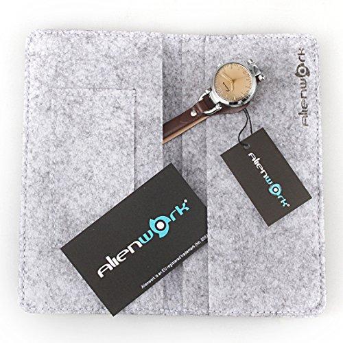Alienwork Mini Damen/Mächen-Uhr Silber Braun-Glas Leder-Armband Braun YH.KW545S-03 - 6