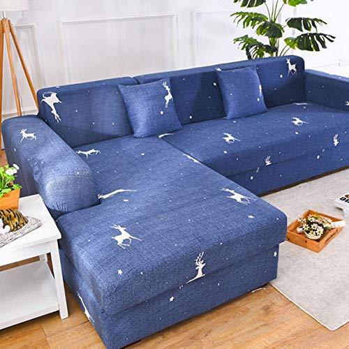 ZFHNYJWKL Funda de Sofá Elástica con el Mismo Tipo de Fundas de Almohada para 1/2/3/4 plazas,Funda para sofá con Protector de Muebles Todo Incluido para Sala de Estar(Gris)