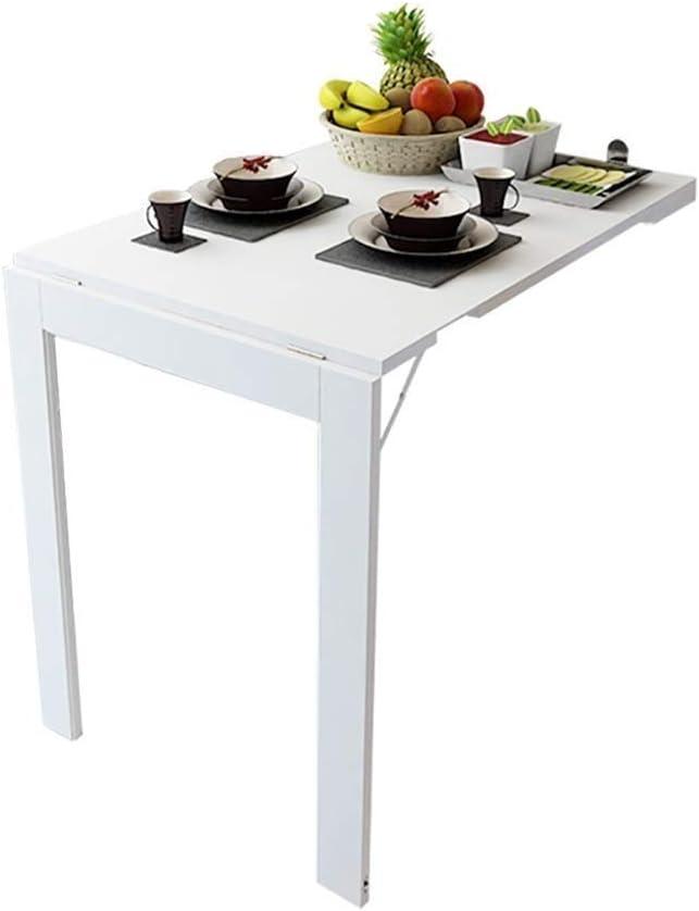 YWAWJ Bajar el tablero de mesa, cocina y comedor plegable escritorio de la tabla, de madera maciza Mesa de niño pequeño Apartamento Mesa de comedor for ahorrar espacio se pliegan convertible turística