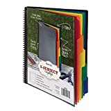 Samsill 10 Pocket, 5 Subject, Spiral Project Organizer with 5 Dividers, Customizable Front Cover, Erasable Write On Tabs in Assorted Colors