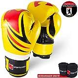 Kampfsport Profi Boxhandschuhe mit revolutionärem Dämpfungssystem & eigenentwickelter Handgelenksfixierung! Handschuhe