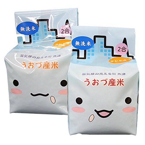 【精米】無洗米 JAうおづ産コシヒカリ ご当地キャラクターミラたんの「キューブ米」600g (2合袋:300g×2個) 令和元年度産