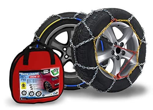 Compass Schneeketten Snow 12mm für Reifen 205/55 R16 ÖNORM, TÜV geprüft (090) 1 Paar, Extra Stark