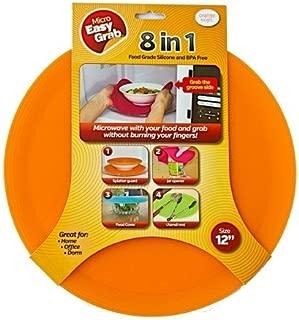 Micro Easy Grab As Seen on Shark Tank: Multi-Purpose Silicone Microwave Mat, BPA Free Kitchen Tool (ORANGE, 12