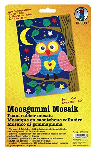 Ursus 8770018 - Moosgummi Mosaik, Eule, ca. 23 x 16 cm