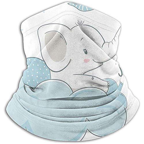 Overlooked Shop Piccolo elefante sulla nuvola Scaldacollo in pile invernale, spessa guaina a collo lungo