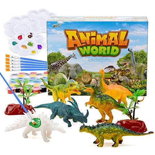 TICE Regalos para niños y niñas de 5 a 12 años, Pintura de Juguetes de Dinosaurios Niños y niñas de 6 a 10 años, Manualidades para niños, Trajes para Regalos de cumpleaños para niños de 6 7 8 9 años