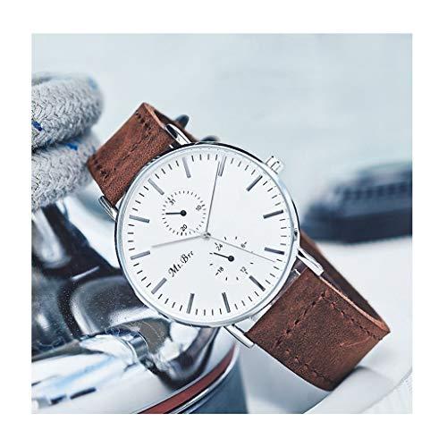 Orologio da uomo Reloj Ultra Delgado para Hombre Relojes de Pulsera para Hombres Reloj de Cuarzo Impermeable para Hombres con Banda de Malla de Acero Inoxidable (Color : B)