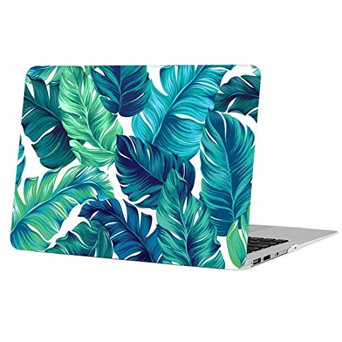 AUSMIX MacBook Pro 13 Inch Case 2018/2017/2016 Release, [Plant Series] Matte Plastic Cover Rubberized Protective Shell Creative Only for Newest Pro 13 (Models:A1706/A1708/A1989) - Green Leaves
