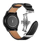 Myada Compatible pour Bracelet Samsung Gear S3 Frontier Cuir, Bracelet Samsung Galaxy Watch 46mm Bracelet 22mm Bracelet Samsung...